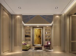 ,720平,108万,别墅,现代,客厅,黄色,