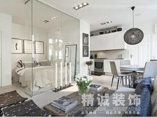 ,34平,23800万,现代,一居,客厅,白色,