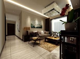 运用荷花装饰作为沙发背景墙的装饰很有文艺气息,太师椅搭配柔软质地的沙发,中西合璧融会贯通很有时尚感。,96平,6万,中式,三居,客厅,白色,