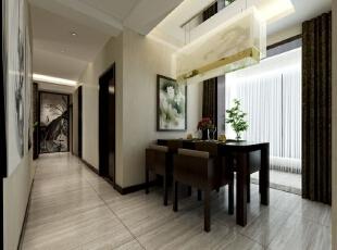展示传统中式文化的同时又时尚简约,明快大气。,96平,6万,中式,三居,餐厅,黑白,