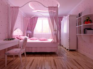 ,135平,8万,欧式,三居,卧室,粉红色,