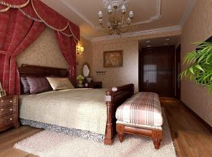 ,150平,10万,欧式,三居,卧室,黄白,红色,
