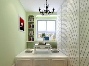 儿童房 8.85平米的儿童房 设计理念:没有夸张,没有刻意的分割,通过过于干干净净的设计手法,将儿童房巧妙孩子的生活空间和学习空间,使整个房间既有区别又有联系。亮点:淡绿色的墙漆显得整个房间生机勃勃,寓意着小树苗要健康快乐的成长。入墙式的书柜,合理的运用空间,让整个房间显的更加整洁,61平,6万,田园,两居,