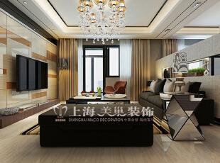 润城129平三室两厅混搭装修客厅效果图,129平,7万,混搭,三居,客厅,