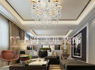 润城129平三室两厅混搭装修效果图:客厅,129平,7万,混搭,三居,客厅,