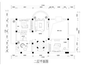 二层主要是孩子与客人的休息场所,也担负起一部分交际沟通的功能,因此在别墅空间设计上利用拱形空间设计了简单舒适的起居空间,书房设置在二层,主要是为男主人与客人之间的业务交流提供相应的空间。,700平,300万,中式,别墅,