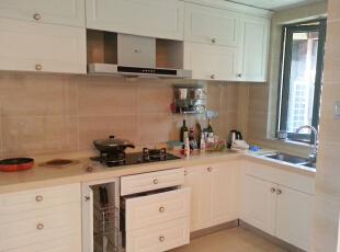 厨房,130平,55万,新古典,三居,厨房,白色,黄色,