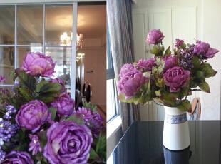 花卉,130平,55万,新古典,三居,客厅,白色,紫色,