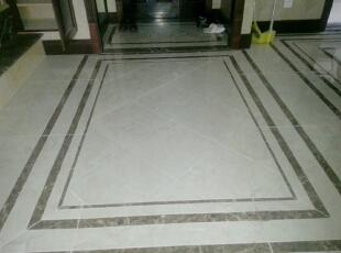 地面拼花,160平,60万,欧式,三居,玄关,白色,黄色,