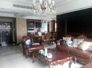 客厅全景,160平,60万,欧式,三居,客厅,白色,黄色,