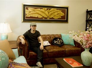 ,300平,80万,美式,别墅,客厅,原木色,白色,