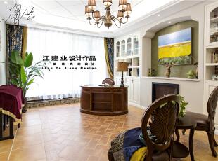 ,300平,80万,美式,别墅,客厅,白色,