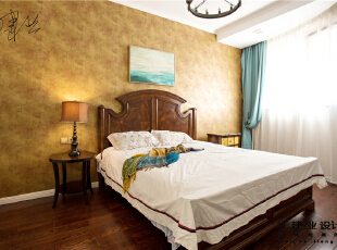 ,300平,80万,美式,别墅,卧室,黄色,白色,