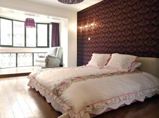,112平,6万,欧式,三居,卧室,红褐色,白色,