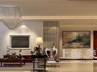 永威翡翠城150平四室两厅新中式风格装修效果图——客餐厅装修效果图,150平,8万,中式,四居,客厅,原木色,