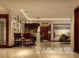 永威翡翠城150平四室两厅新中式风格装修样板间——门厅装修效果图,150平,8万,中式,四居,餐厅,原木色,