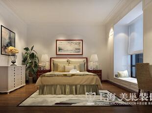 永威翡翠城150平4室2厅新中式风格装修效果图——卧室装修效果图,150平,8万,中式,四居,卧室,白色,