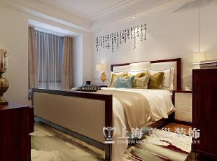 永威翡翠城150平四室两厅新中式风格装修方案——次卧装修效果图,150平,8万,中式,四居,卧室,白色,