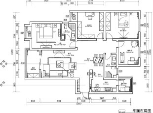 永威翡翠城150平四室两厅新中式风格装修户型图,150平,8万,中式,四居,