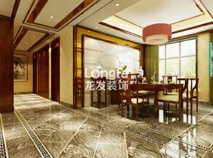 石家庄维多利亚199㎡户型新中式风格装修效果图案例,199平,12万,中式,四居,客厅,原木色,
