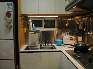 ,33平,3万,简约,一居,厨房,黑白,