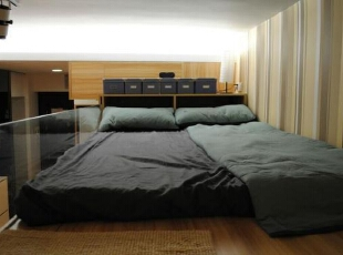 ,33平,3万,简约,一居,卧室,原木色,