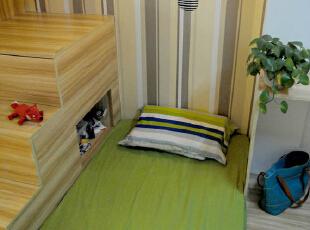 ,33平,3万,简约,一居,卧室,原木色,绿色,