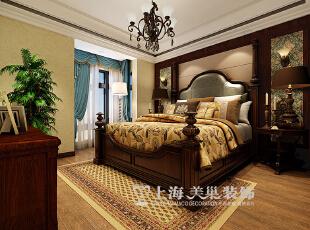 东方国际广场89平两室两厅新古典风格装修案例——卧室装修效果图,89平,6万,新古典,两居,卧室,原木色,黄白,