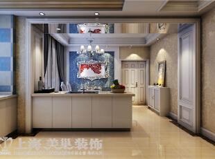 贰号城邦110平三室两厅法式风格装修案例-厨房效果图,110平,9万,清新,三居,餐厅,白色,
