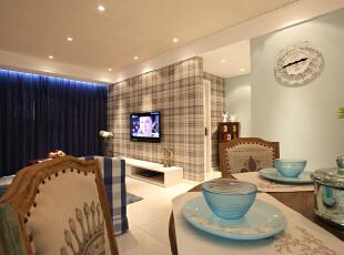 ,240平,20万,美式,四居,餐厅,蓝色,