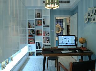 ,240平,20万,美式,四居,书房,蓝色,