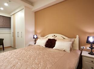 ,92平,5万,混搭,三居,卧室,棕色,白色,