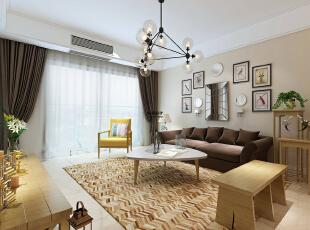 维也纳森林88平方两室两厅现代简约装修效果图 客厅     原木色的家具是现在非常受欢迎的,仿佛让人置身大自然之中,88平,5万,现代,两居,客厅,白色,