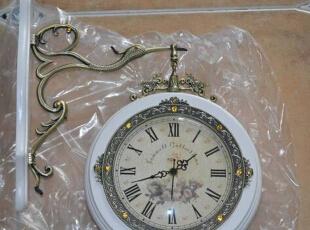 网购的仿古白的双面钟,还要请师傅安装,没有工具,呵~~~,90平,8万,田园,三居,客厅,白色,