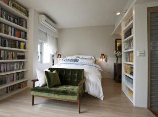 卧床区在日光国度里随意拾取一个角落歇息,皆能享受夏日北欧风情。,39平,4万,田园,一居,卧室,白色,