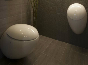 厕所设计师考量空间的主要使用者是夫妇两人,因此将一般来客会使用的马桶、小便斗与淋浴区独立出来。,39平,4万,田园,一居,卫生间,原木色,
