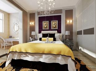 ,140平,16万,现代,三居,卧室,褐色,黄白,