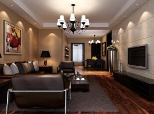 ,120平,15万,现代,三居,客厅,黄白,