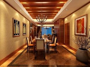 ,400平,35万,地中海,复式,餐厅,原木色,