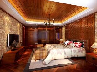 ,400平,35万,地中海,复式,卧室,原木色,