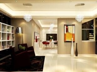 ,460平,30万,现代,别墅,客厅,黄色,