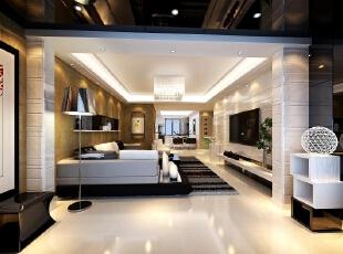 ,460平,30万,现代,别墅,客厅,黑白,