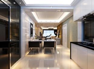 ,460平,30万,现代,别墅,餐厅,黑白,