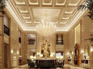 ,360平,30万,欧式,复式,客厅,黄色,