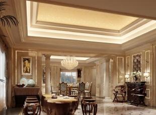 ,360平,30万,欧式,复式,客厅,原木色,黄色,