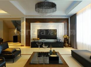 ,240平,128万,中式,三居,客厅,现代,黑白,红色,原木色,