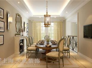景天怡苑140平错层复式简欧风格装修样板间-餐厅效果图,140平,10万,欧式,复式,餐厅,黄白,