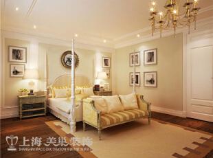景天怡苑140平错层复式简欧风格装修案例-卧室效果图,140平,10万,欧式,复式,卧室,黄白,