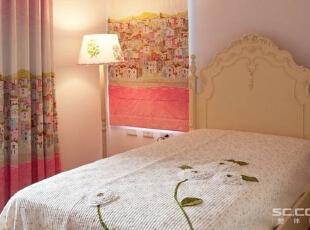 ,92平,13万,田园,两居,卧室,粉红色,