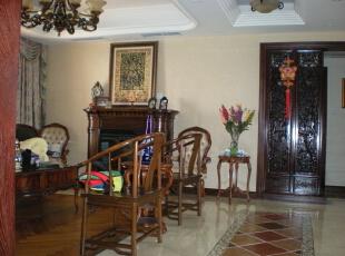 客厅一角,240平,60万,混搭,复式,客厅,原木色,